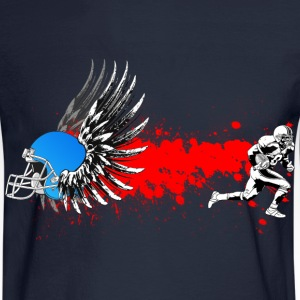FootBall grunge wings Long Sleeve Shirts - Men's Long Sleeve T-Shirt