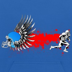 FootBall grunge wings Sweatshirts