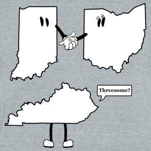 Tri-State Threesome Shirt - Ohio, Indiana and Kentucky  T-Shirts - Unisex Tri-Blend T-Shirt by American Apparel