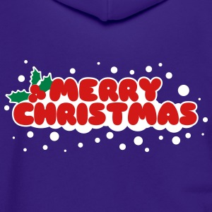 Merry Christmas Zip Hoodies/Jackets - Unisex Fleece Zip Hoodie by American Apparel
