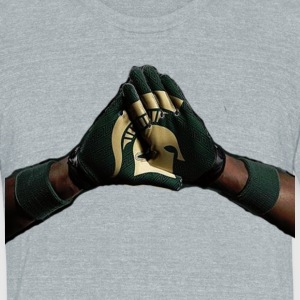 Sparty Combat T-Shirts - Unisex Tri-Blend T-Shirt by American Apparel