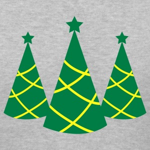 Christmas tree pointy with star three Women's T-Shirts - Women's V-Neck T-Shirt