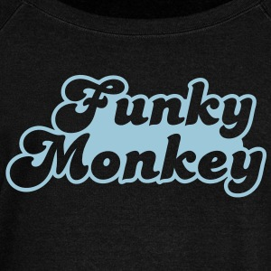 funky monkey Long Sleeve Shirts - Women's Wideneck Sweatshirt