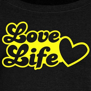 LOVE LIfe heart lovely Long Sleeve Shirts - Women's Wideneck Sweatshirt