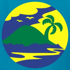 awesome island in a circle Holiday!!! Kids' Shirts - Kids' T-Shirt