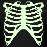Design ~ SKELETON RIB CAGE - GLOW-IN-THE-DARK T-Shirt