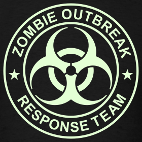 Design ~ ZOMBIE OUTBREAK RESPONSE TEAM T-Shirt GLOW-IN-THE-DARK T-Shirt