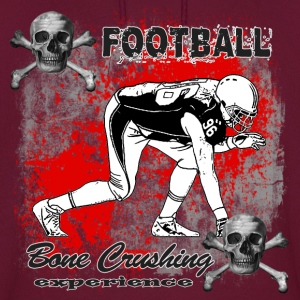 FootBall Bone Crushing experience GreyBlack Hoodies - Men's Hoodie