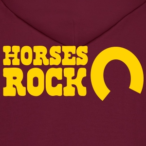 horses rock -with horseshoe Hoodies - Men's Hoodie