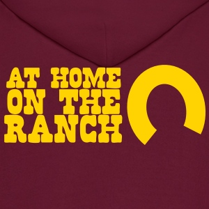 At home on the ranch with horseshoe Hoodies - Men's Hoodie
