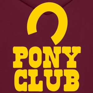 PONY CLUB with horseshoe Hoodies - Men's Hoodie