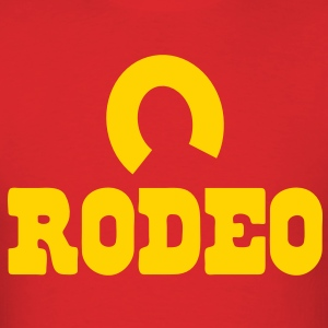 rodeo with horseshoe T-Shirts - Men's T-Shirt
