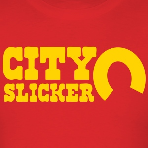 city slicker with horseshoe T-Shirts - Men's T-Shirt