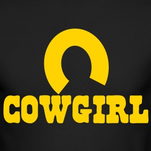 cowgirl with horseshoe Long Sleeve Shirts - Men's Long Sleeve T-Shirt by Next Level