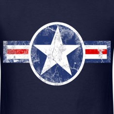 Vintage Patriotic Star, Red White and Blue Logo T-Shirt