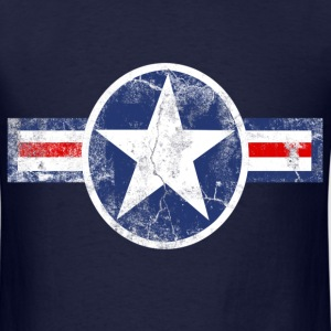 Vintage Patriotic Star, Red White and Blue Logo T-Shirt - Men's T-Shirt