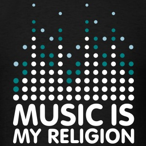 Music Is My Religion Men's T-shirts - Men's T-Shirt