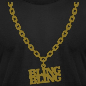 Bling Bling T-Shirts - Men's T-Shirt by American Apparel