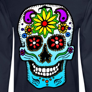 Calavera de Azúcar Long Sleeve Shirts - Men's Long Sleeve T-Shirt