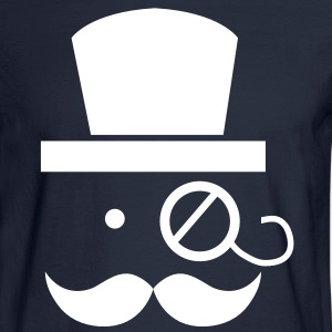 mustache moustache man with eyeglass Long Sleeve Shirts - Men's Long Sleeve T-Shirt