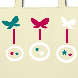 cute butterflies stars vector graphic lne art Eco-Friendly Cotton Tote - Eco-Friendly Cotton Tote