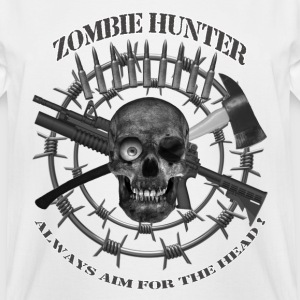 Zombie Hunter always aim for the head greyblack te T-Shirts - Men's Tall T-Shirt
