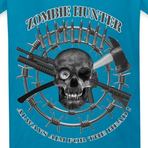 Zombie Hunter always aim for the head greyblack te Kids' Shirts - Kids' T-Shirt