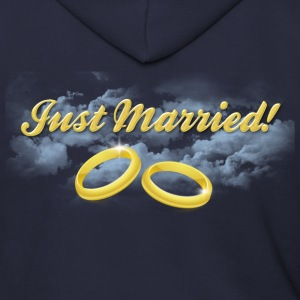 Just Married Gold Rings, Gold Lettering Zip Hoodies/Jackets - Men's Zip Hoodie