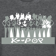Love k-pop txt s.korea in korean txt girls vector graphic art Women's Standard Weight T-Shirt