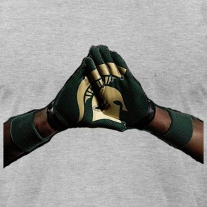 Sparty Combat T-Shirts - Men's T-Shirt by American Apparel