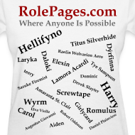 Design ~ RolePages Character Name Shirt 3 - 10/17/11