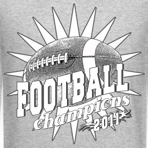 Football Champions 2011 BW Long Sleeve Shirts - Crewneck Sweatshirt