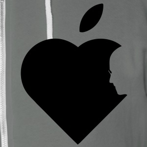Apple Heart jobs (1c) Zip Hoodies/Jackets - Unisex Fleece Zip Hoodie by American Apparel