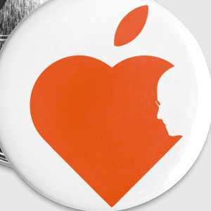 Apple Heart jobs (1c) Buttons - Small Buttons