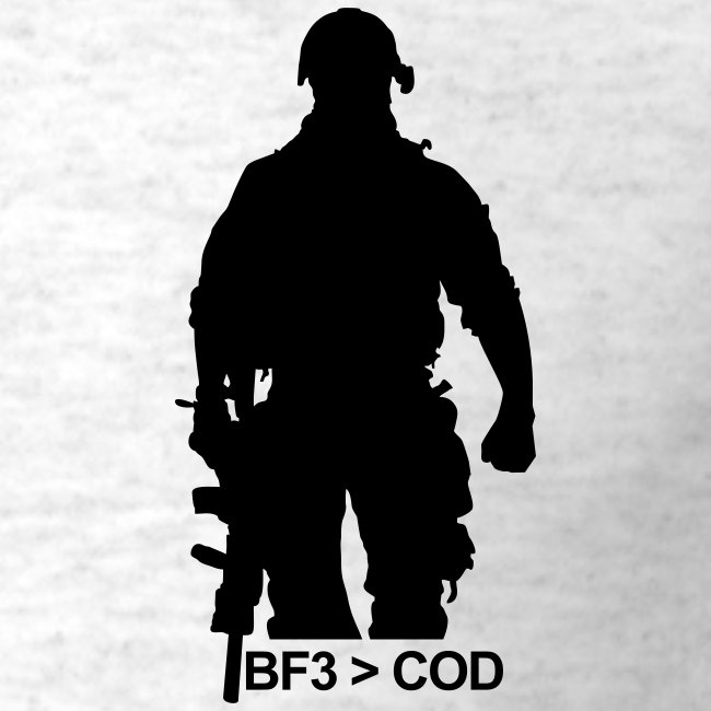 Mens Tee : BF3  COD