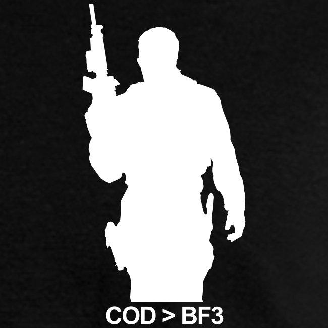 Mens Tee : COD  BF3