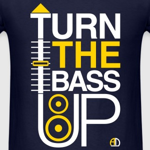 TURN THE BASS UP - Music Crossfader & Speaker DJ - Men's T-Shirt