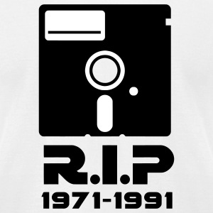 5.25 inch floppy Rest in Peace RIP death Retro Nerd Geek T-Shirts - Men's T-Shirt by American Apparel