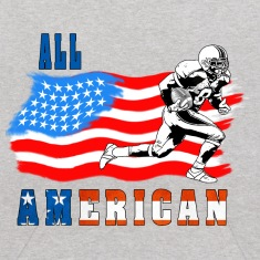 All American Football player 2 Sweatshirts