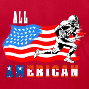 All American Football player 2 White T-Shirts - Men's T-Shirt by American Apparel
