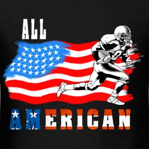 All American Football player 2 White T-Shirts - Men's T-Shirt