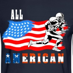 All American Football player 2 White Long Sleeve Shirts