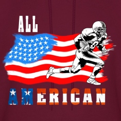 All American Football player 2 White Hoodies