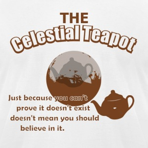 The Celestial Teapot - Men's T-Shirt by American Apparel