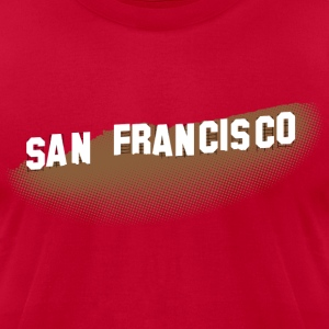 San Francisco Hollywood Sign T-shirt - Men's T-Shirt by American Apparel