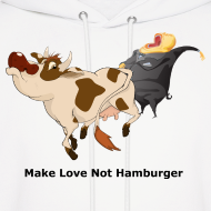 Design ~ Make Love Not Hamburger - Hoodie