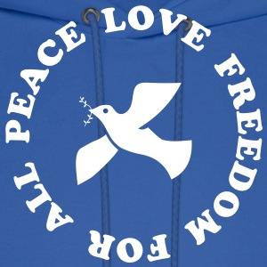 peace love freedom for all Hoodies - Men's Hoodie