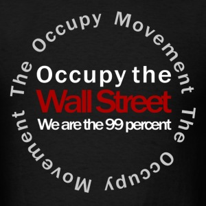 Occupy the Wall Street Movement black T-Shirts - Men's T-Shirt