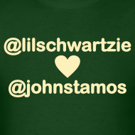Design ~ @lilschwartzie heart @johnstamos - Men's T