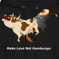 Design ~ Make Love Not Hamburger - Dark Hoodie